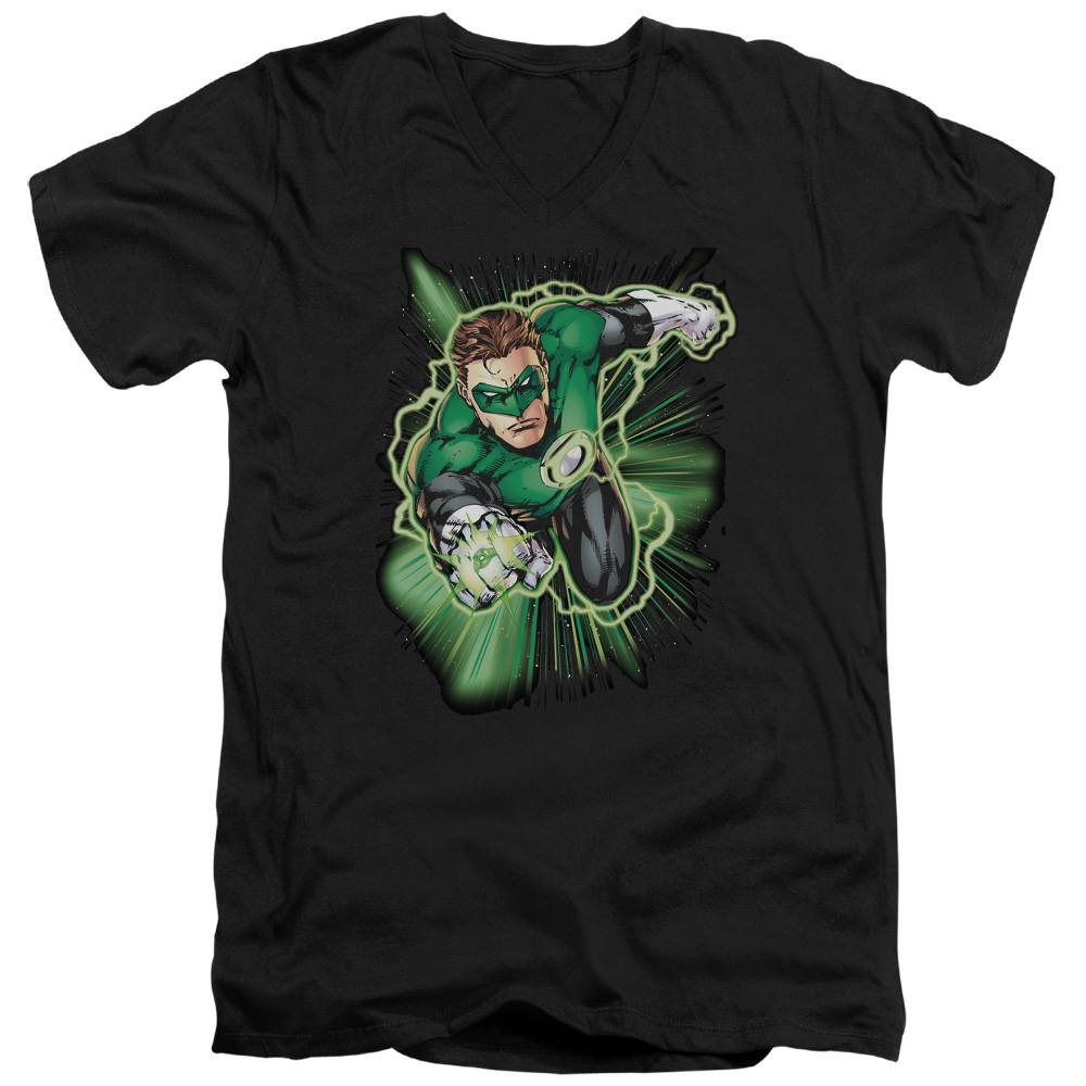 Green Lantern Energy V-Neck T-Shirt