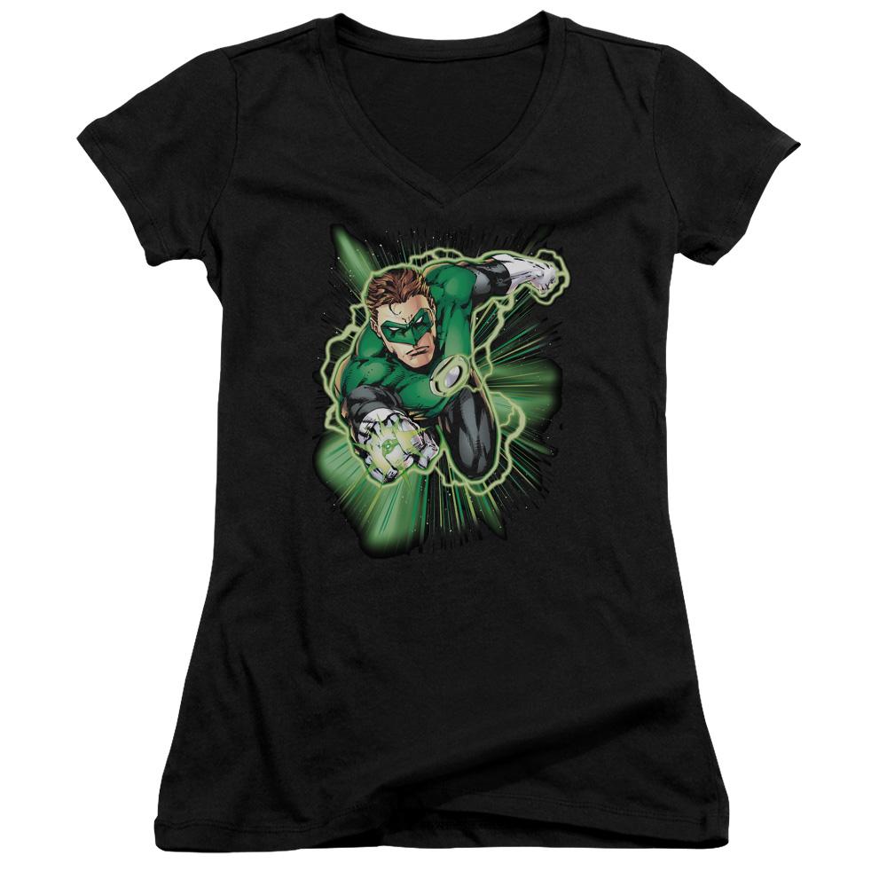 Green Lantern Energy Juniors V-Neck T-Shirt