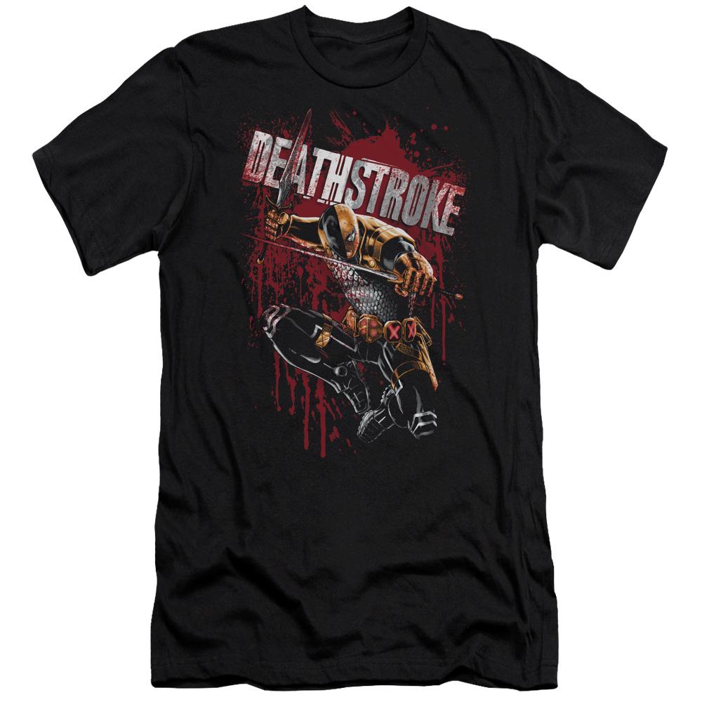 Deathstroke Blood Splattered Slim Fit T-Shirt