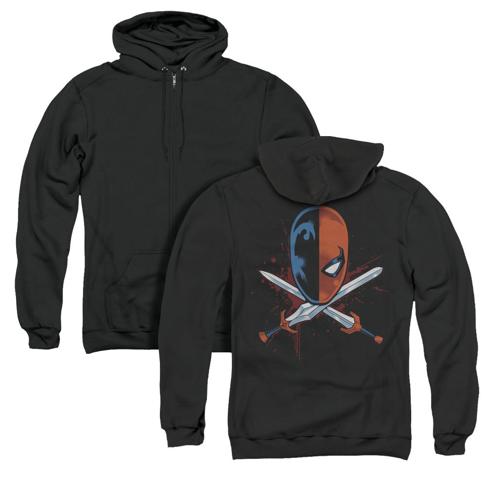 Deathstroke Crossed Swords Adult Zip Hoodie