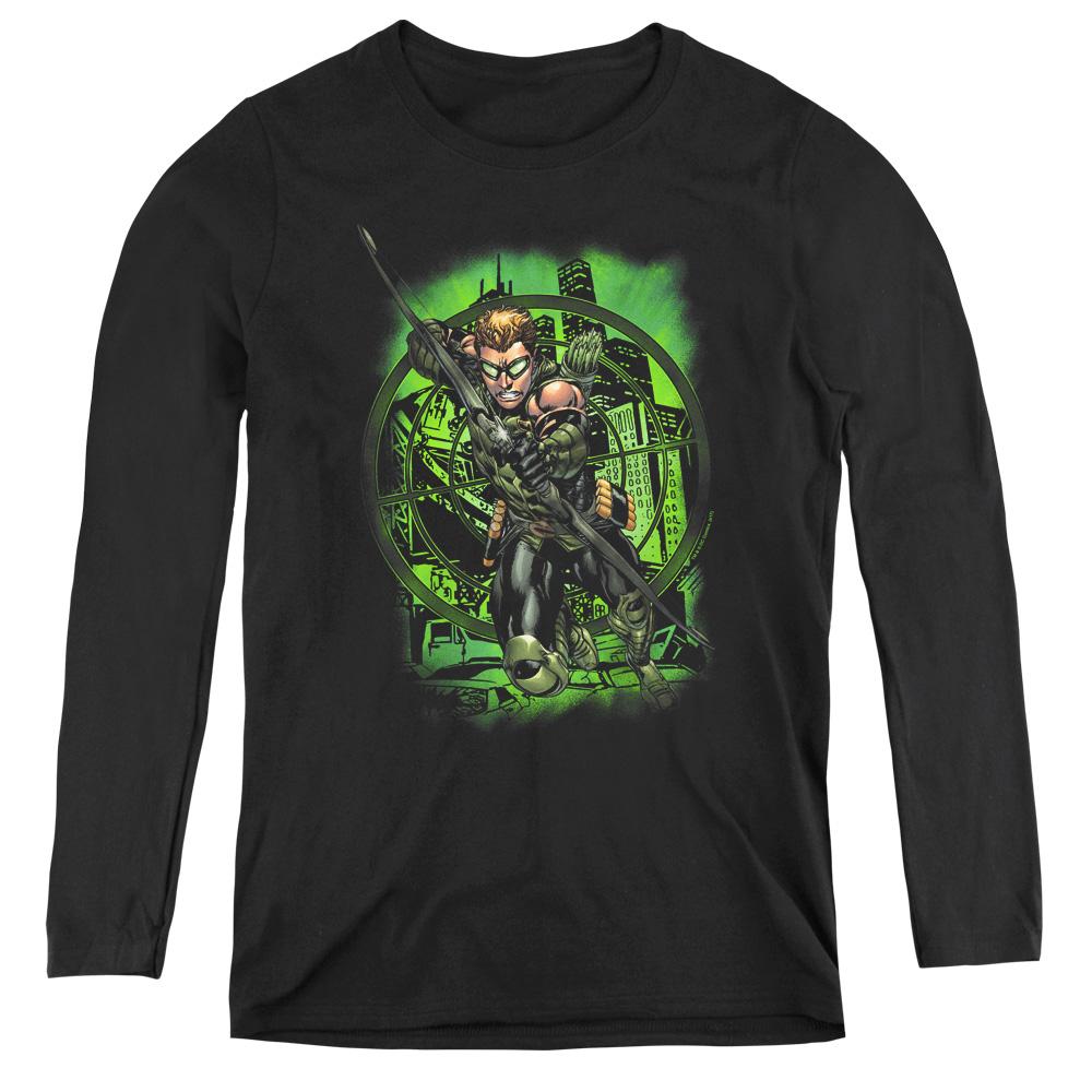 Green Arrow In My Sight Women's Long Sleeve Shirt