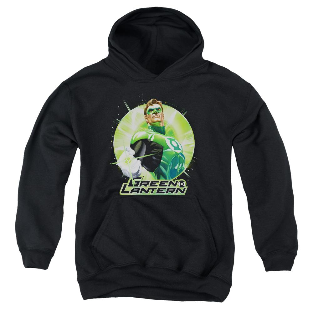 Green Lantern Green Static Kids Hoodie