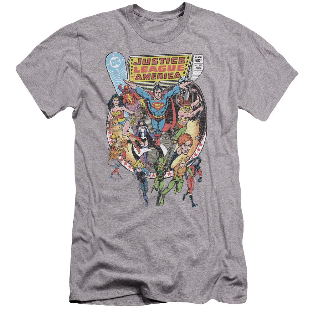 Justice League Team Up Premium Slim Fit T-Shirt