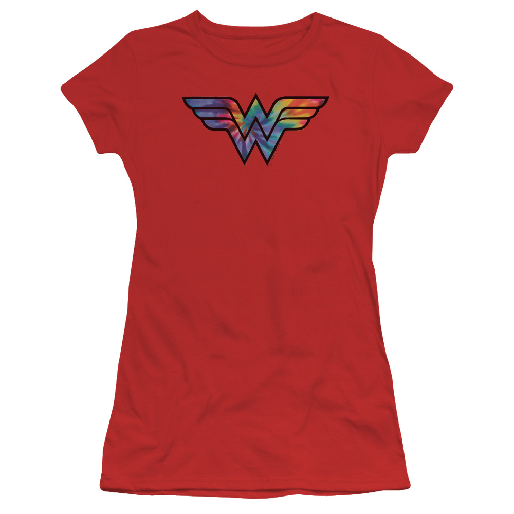 Wonder Woman Tie Dye Logo Junior Fit T Shirt