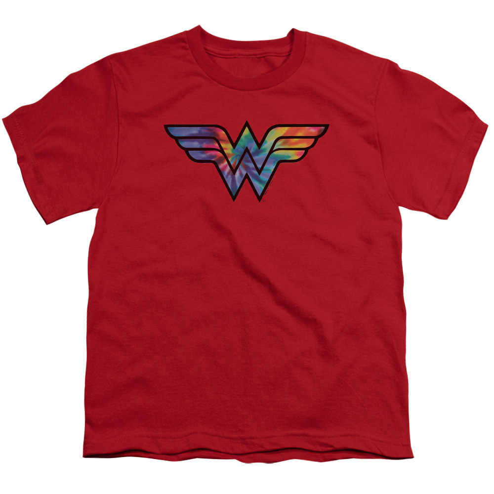 Wonder Woman Tie Dye Logo Kids T-Shirt