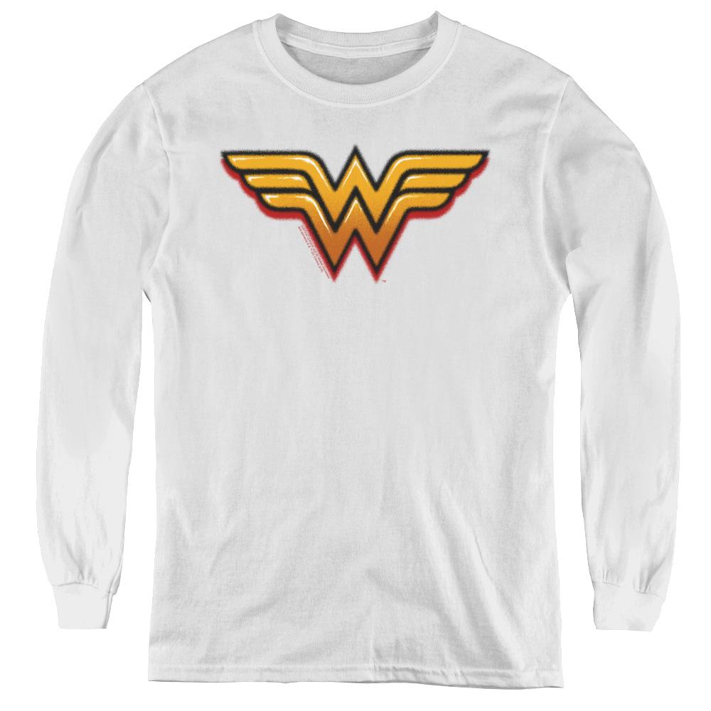 Wonder Woman Airbrush WW Kids Long Sleeve Shirt
