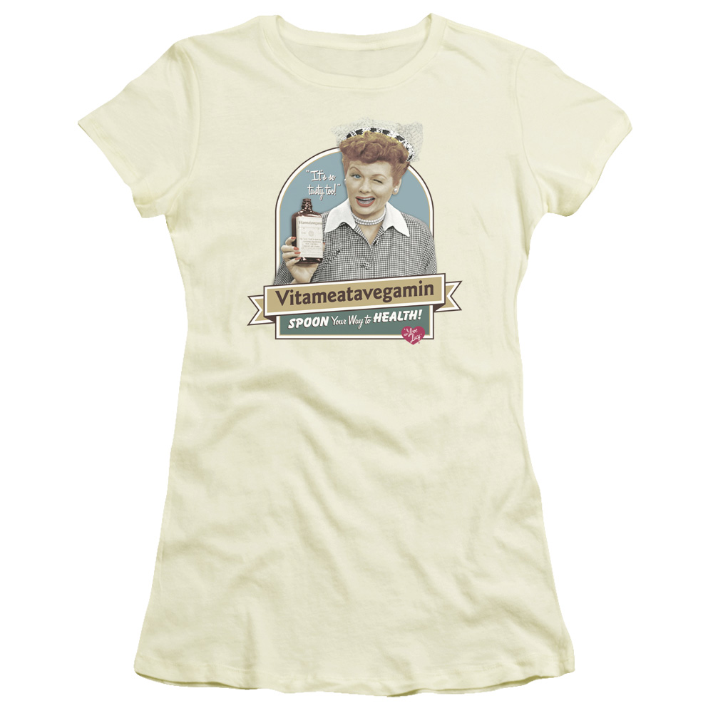 I Love Lucy Spoon To Health Junior Fit T Shirt