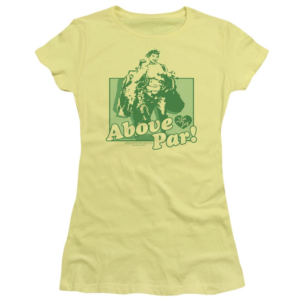 I Love Lucy Above Par Junior Fit T Shirt