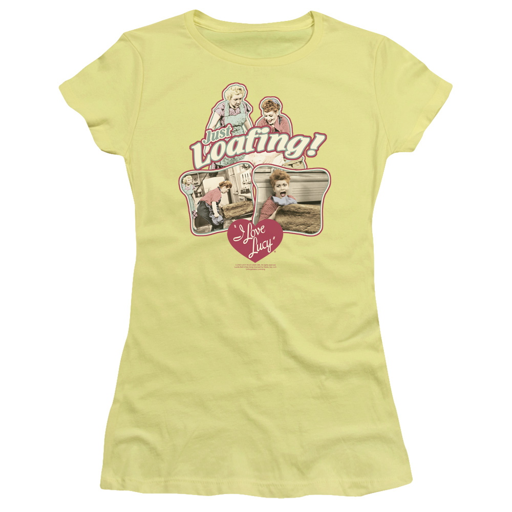 I Love Lucy Just Loafing Junior Fit T Shirt