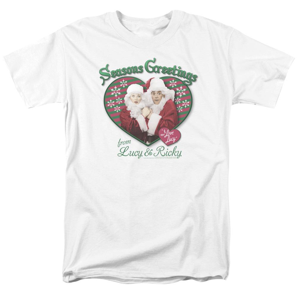 Christmas I Love Lucy Seasons Greetings T-Shirt
