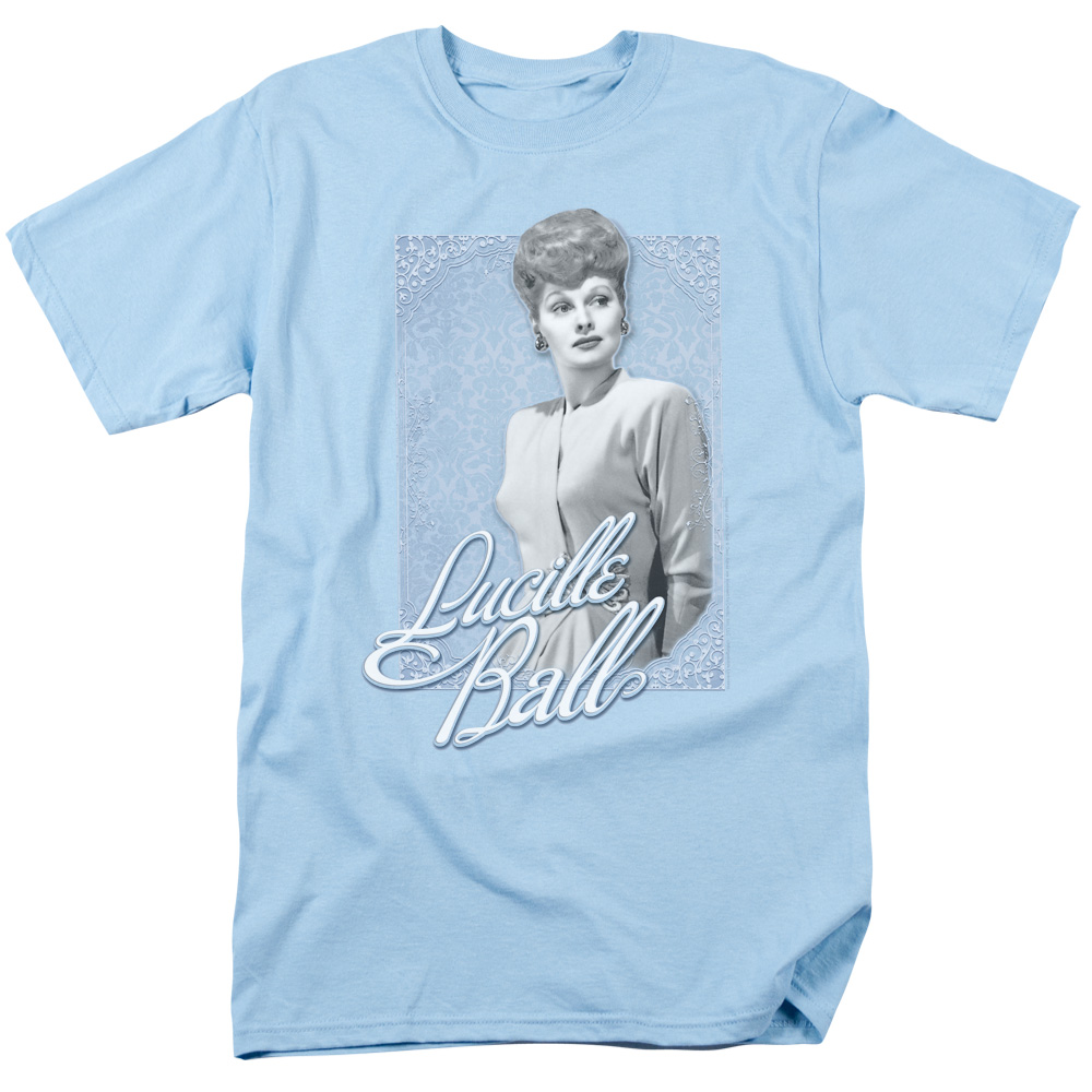 I Love Lucy Lucille Ball Blue Lace T-Shirt
