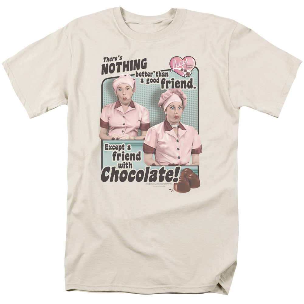 I Love Lucy Chocolate Friends T-Shirt