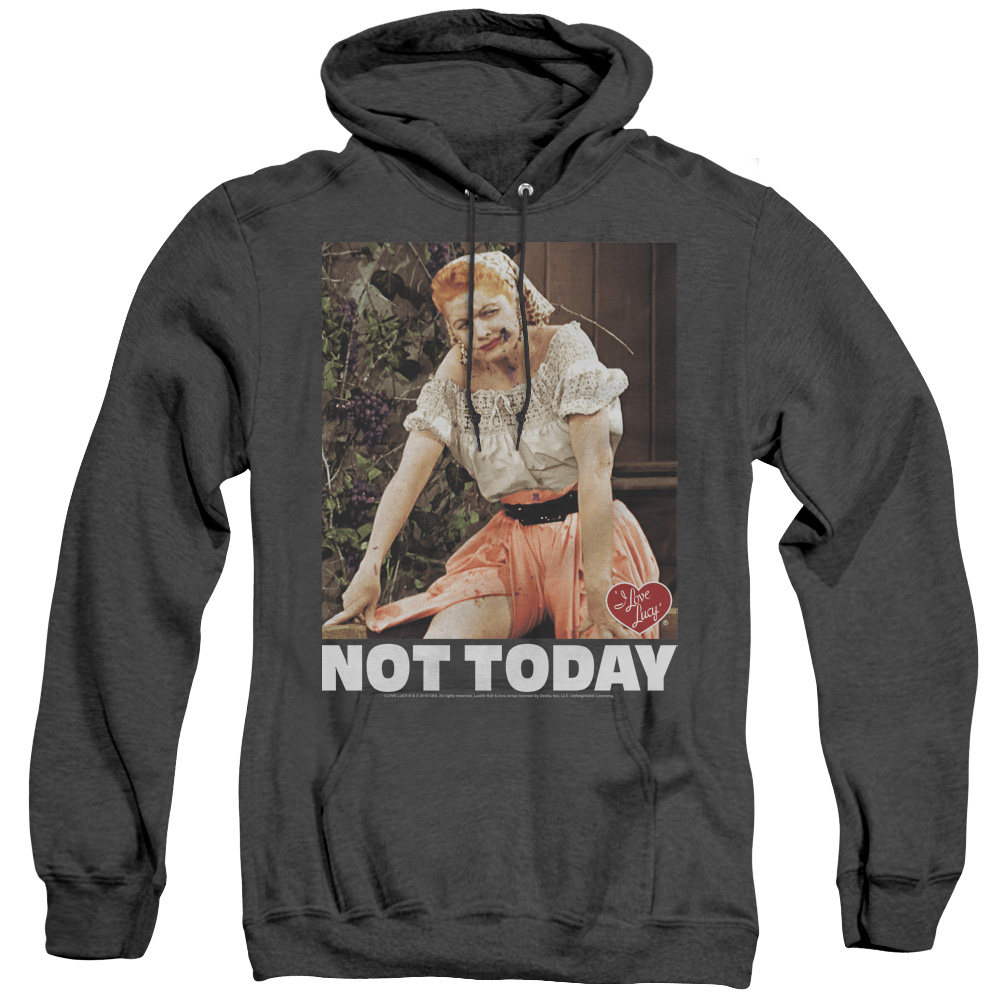 I Love Lucy Not Today Adult Heather Hoodie