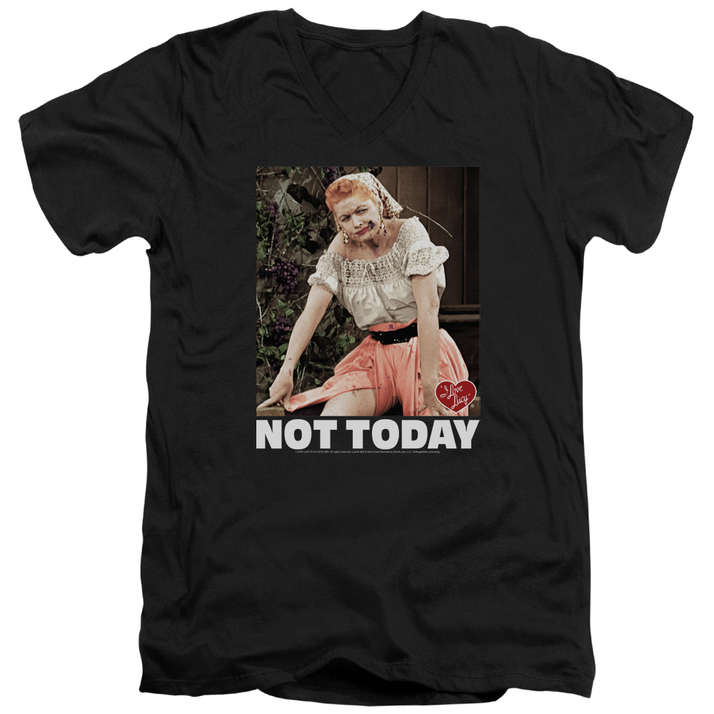 I Love Lucy Not Today V-Neck T-Shirt