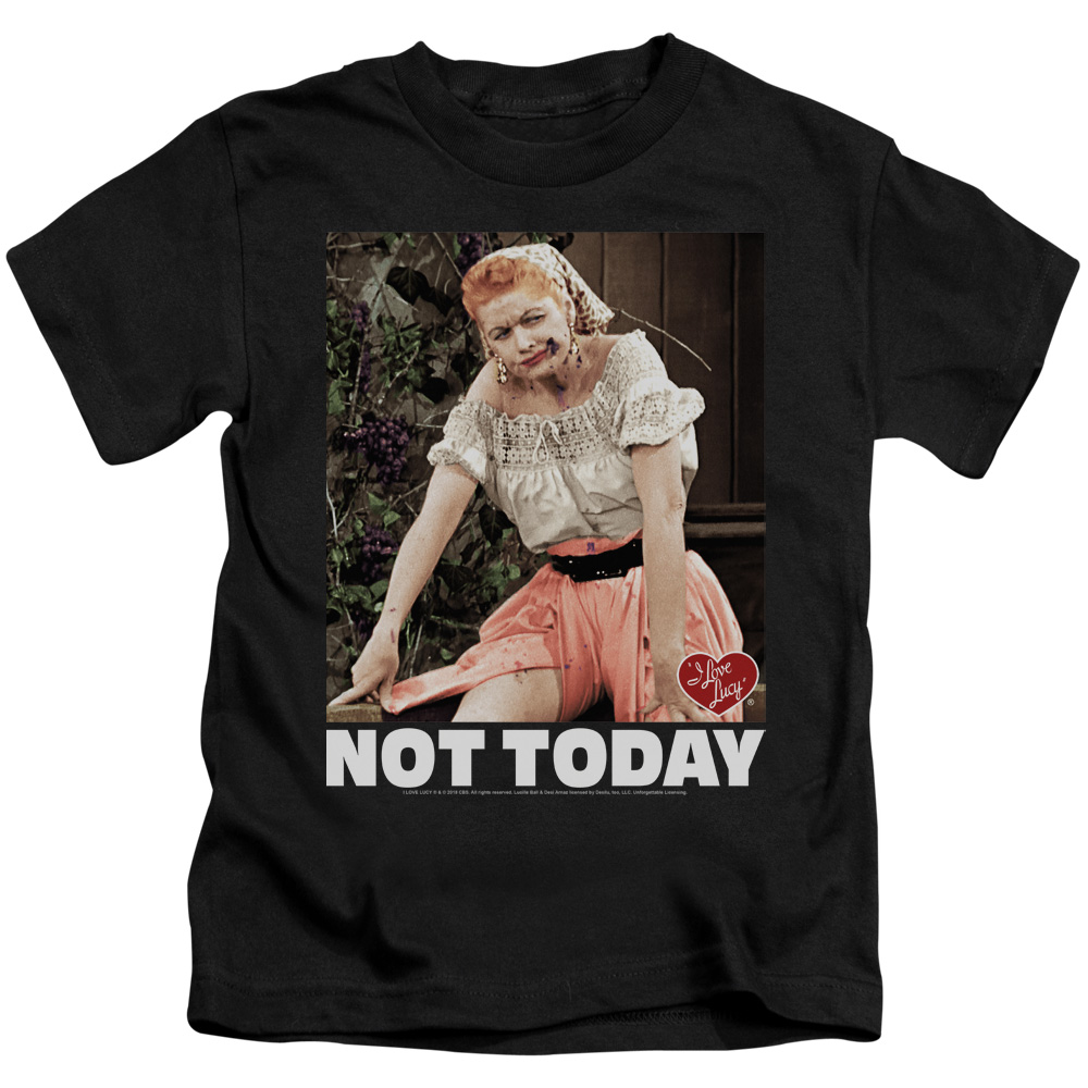 I Love Lucy Not Today Juvy T-Shirt