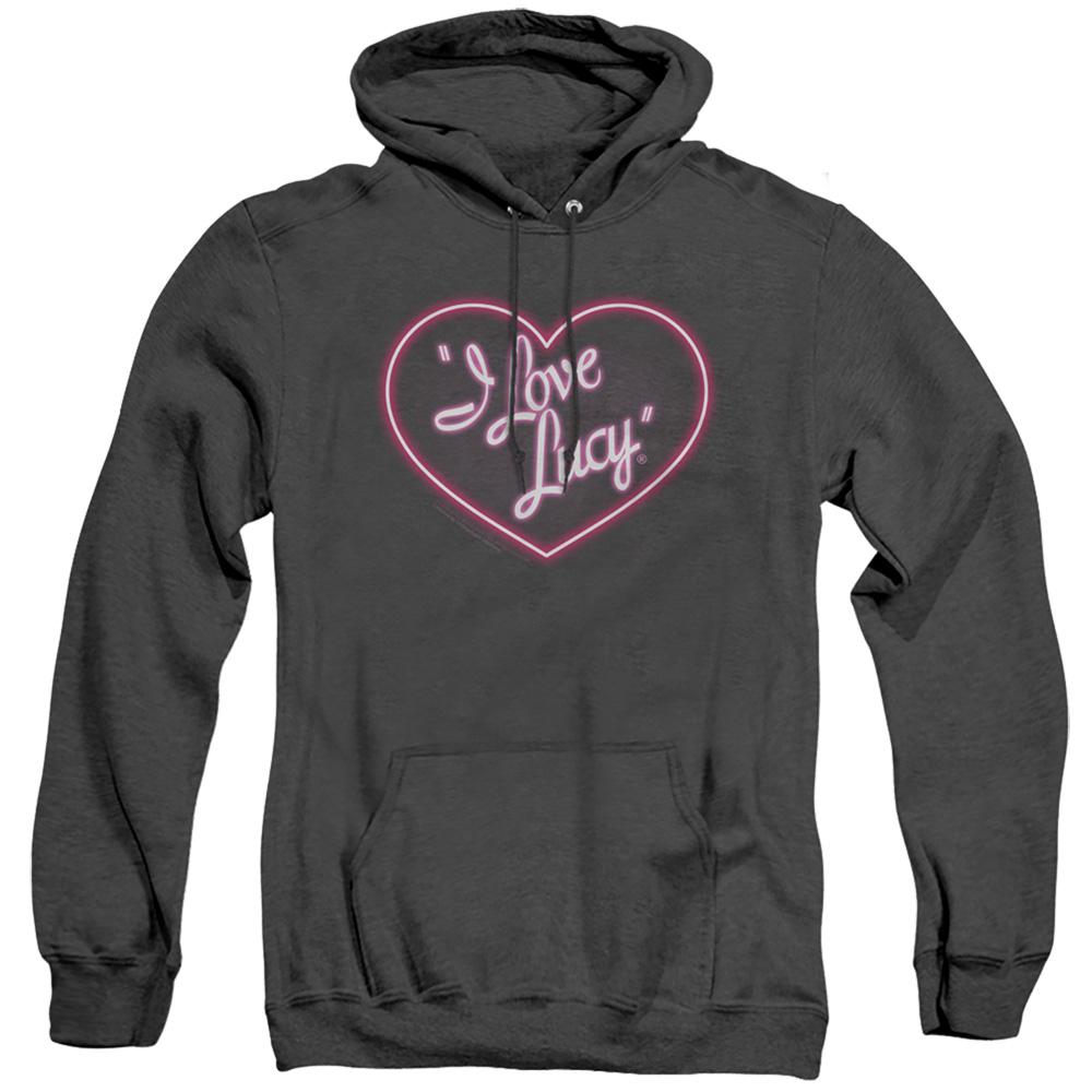 I Love Lucy Neon Logo Adult Heather Hoodie
