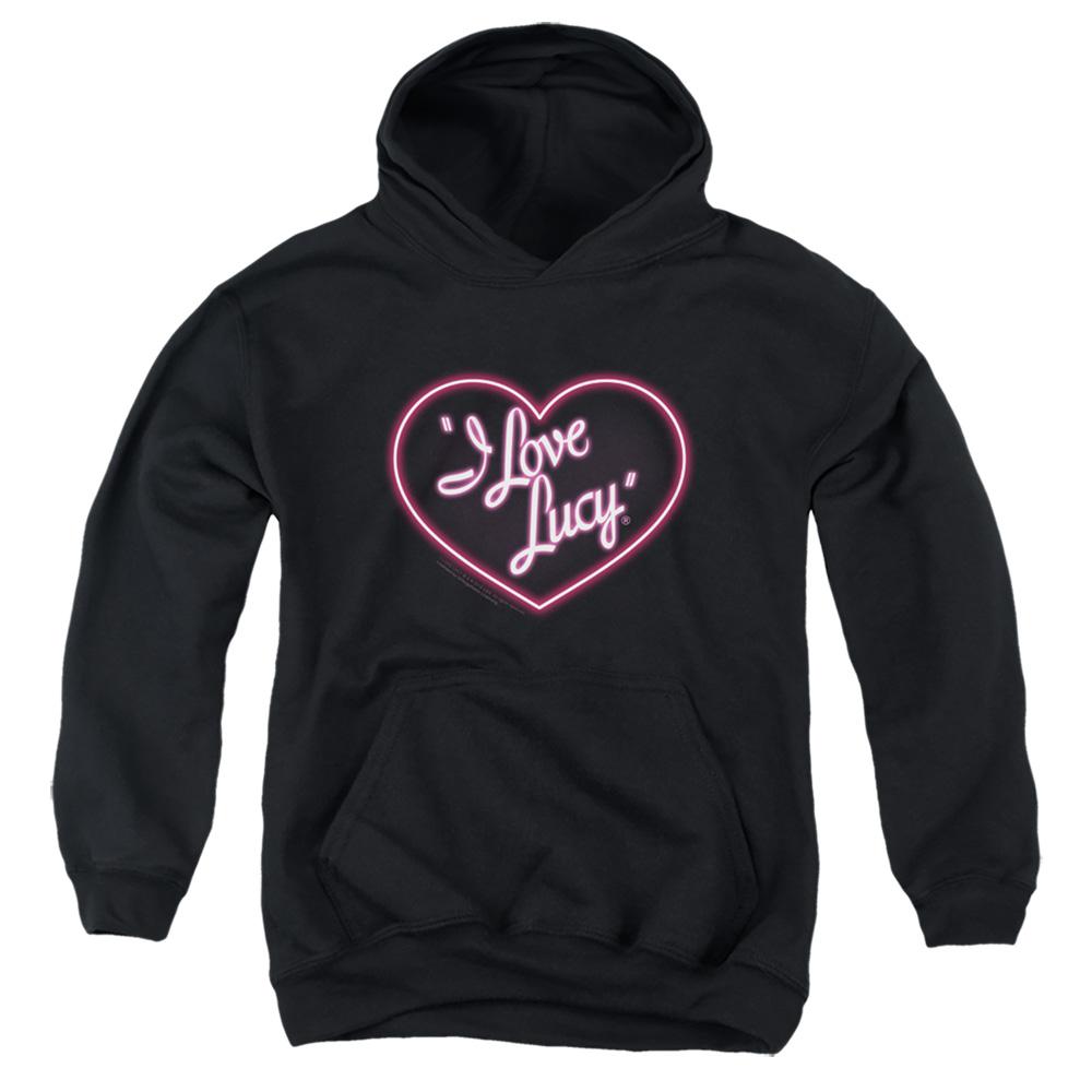 I Love Lucy Neon Logo Kids Hoodie