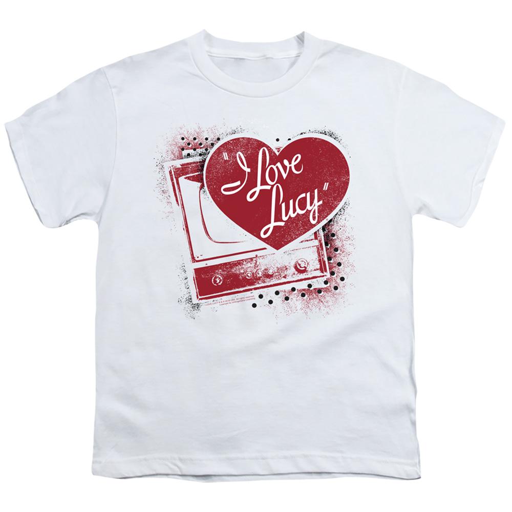 I Love Lucy Spray Paint Heart Kids T-Shirt