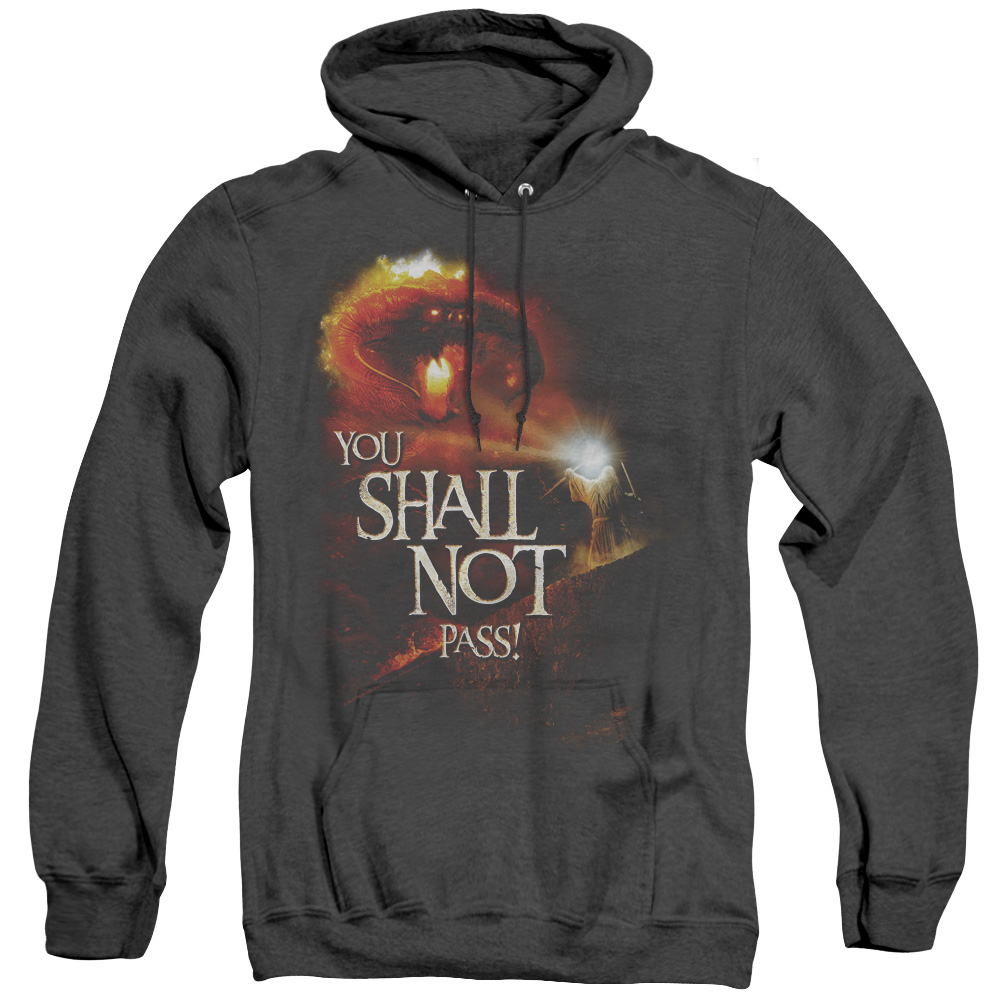 You Shall Not Pass Lord Of The Rings Adult Heather Hoodie