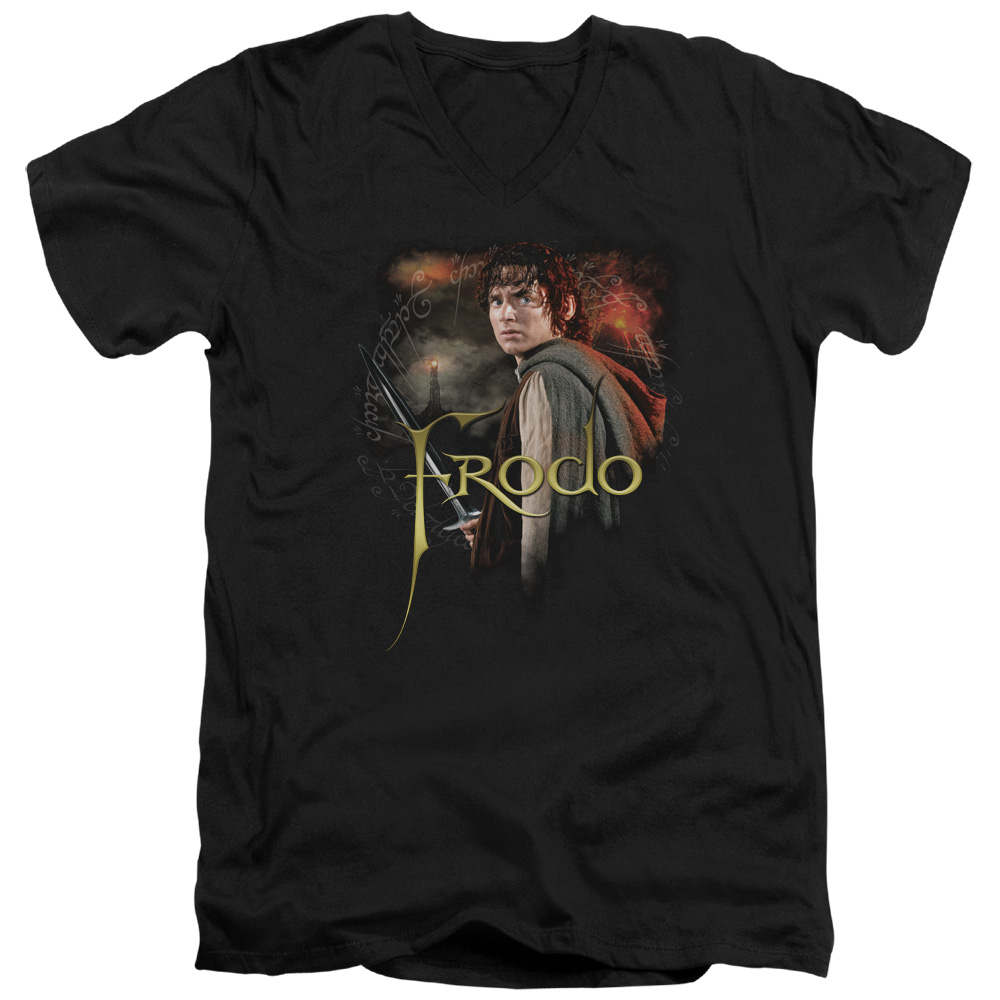 Frodo Lord Of The Rings V-Neck T-Shirt