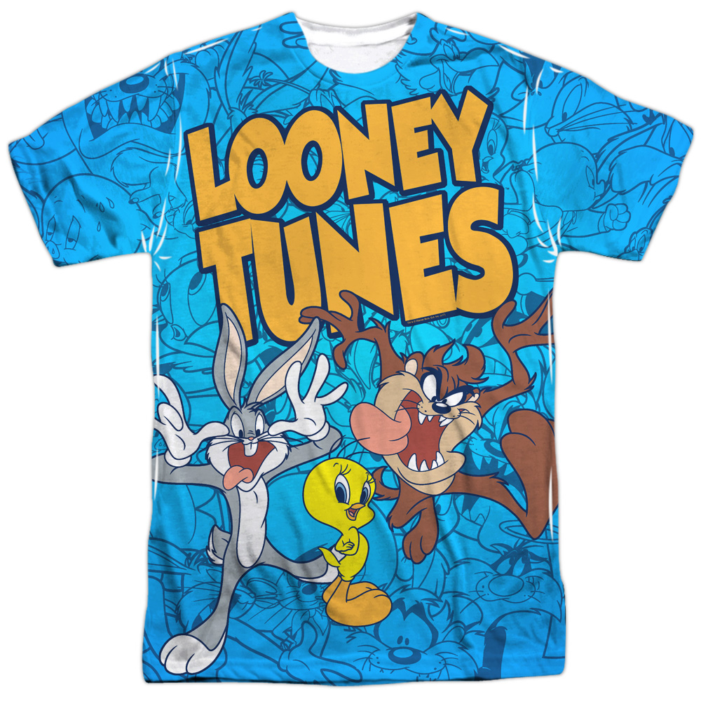 60a628df Looney Tunes Collage Of Characters Sublimation Licensed Adult T ...