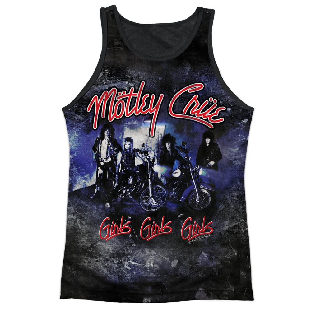 Motley Crue Girls Girls Girls Black Back Sublimation Licensed Adult Tank Top