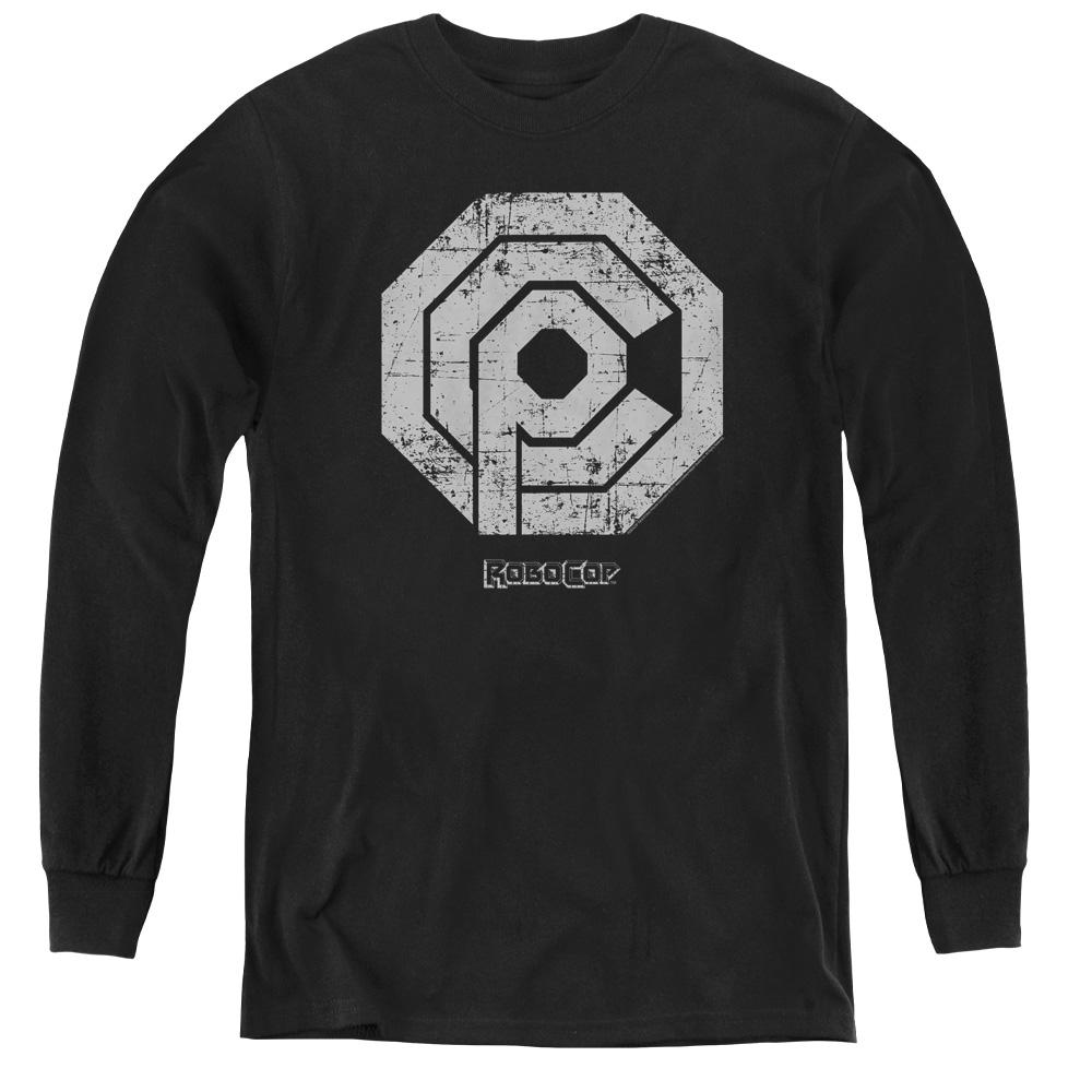 Distressed Logo Robocop Kids Long Sleeve Shirt