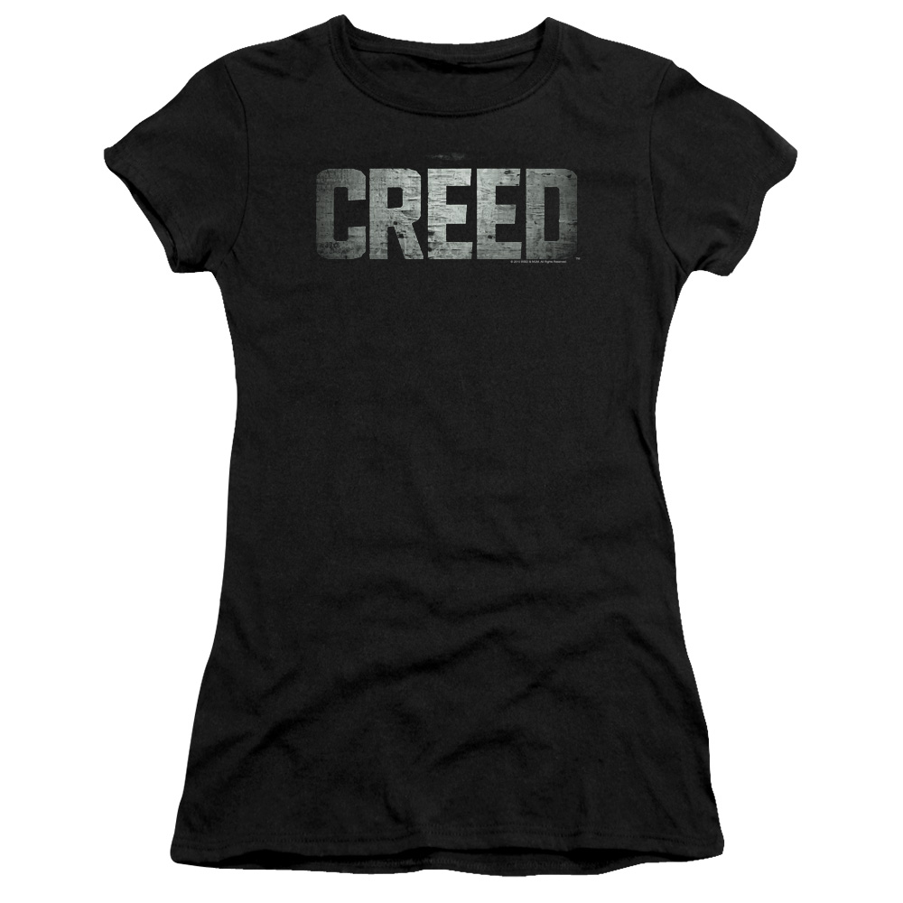 Creed Classic Distressed Logo Junior Fit T Shirt