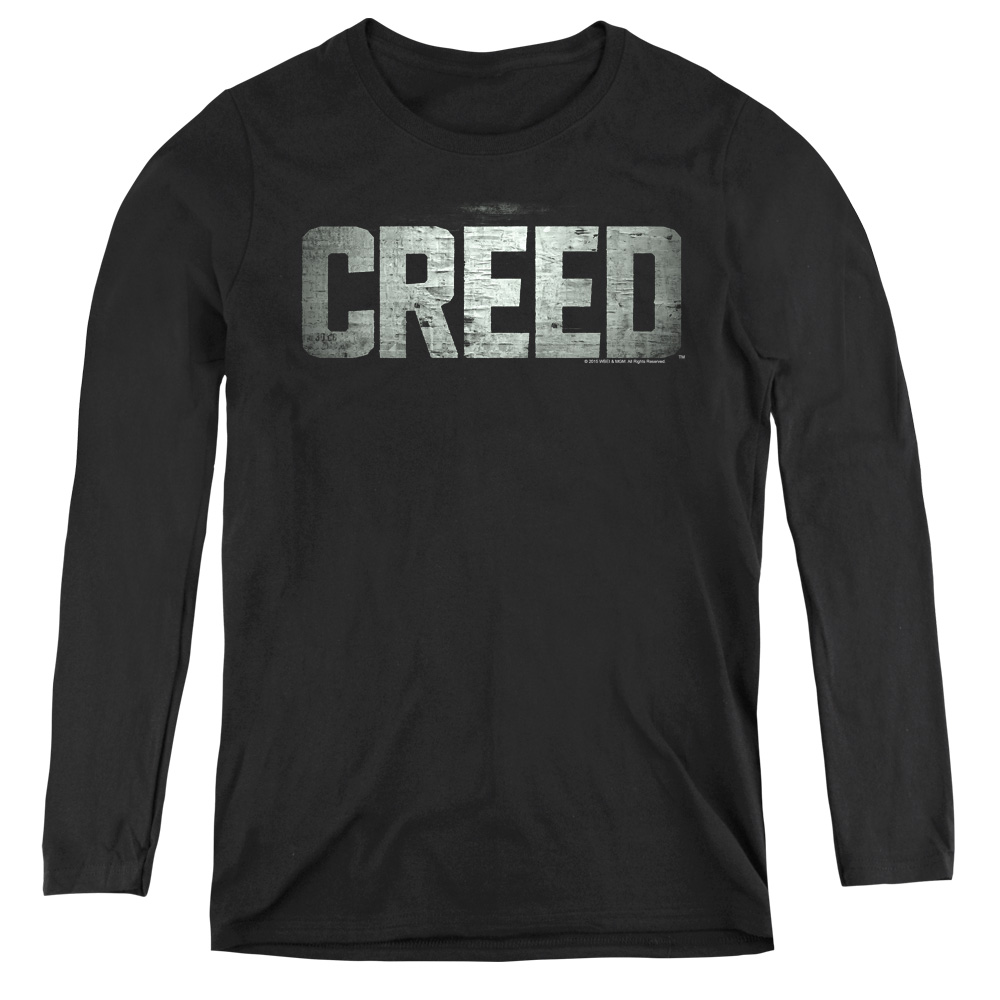 Creed Classic Distressed Logo Women's Long Sleeve Shirt