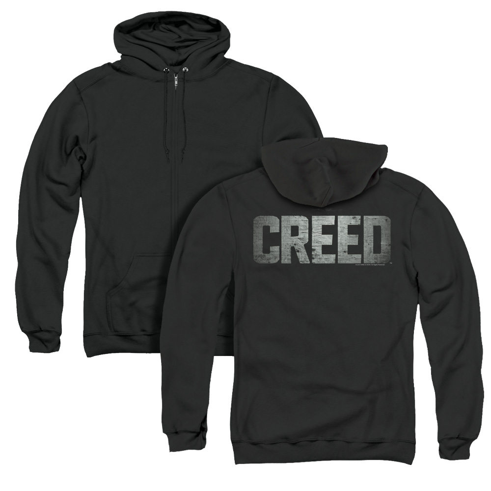 Creed Classic Distressed Logo Adult Zip Hoodie