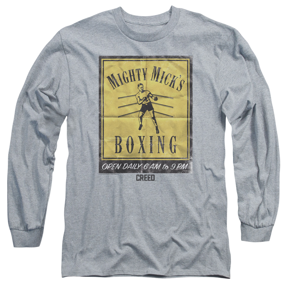 Mighty Mick's Boxing Gym Vintage Poster Art Long Sleeve Shirt