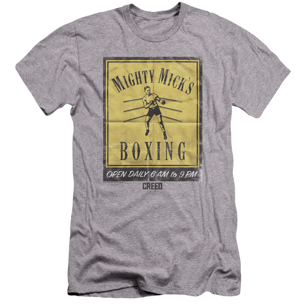 Mighty Mick's Boxing Gym Vintage Poster Art Premium Slim Fit T-Shirt