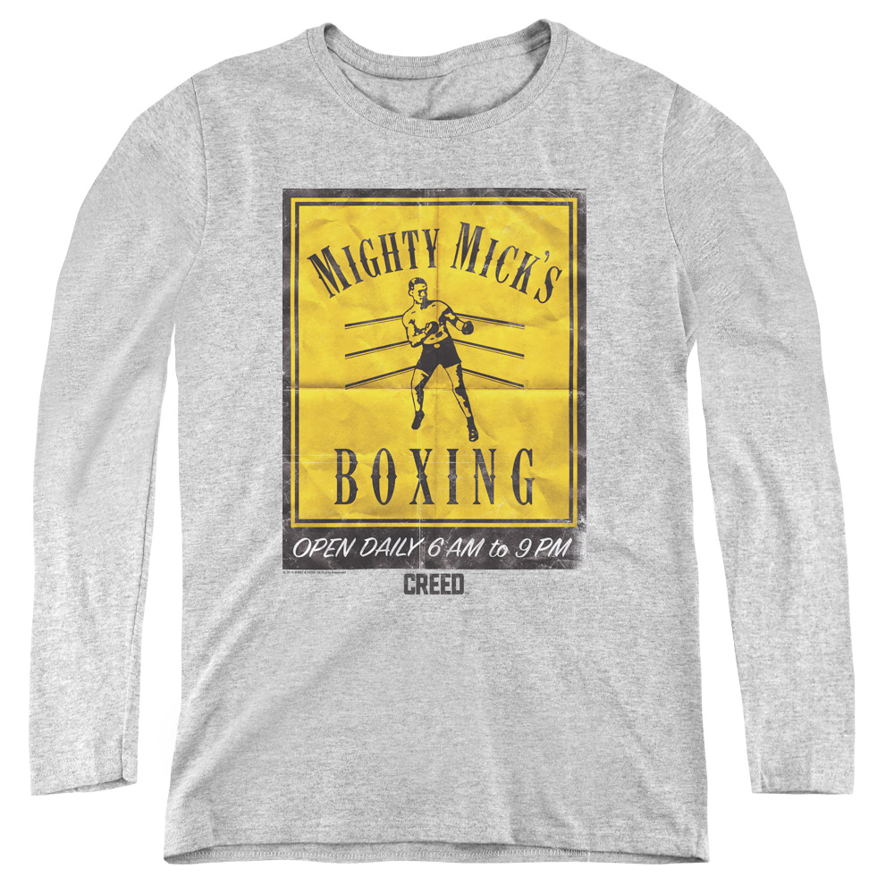 Mighty Mick's Boxing Gym Vintage Poster Art Women's Long Sleeve Shirt