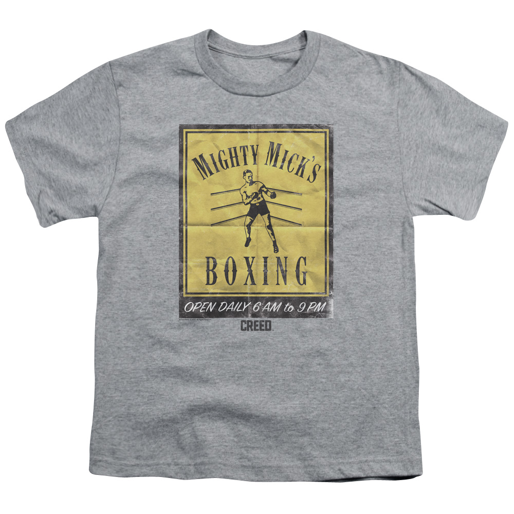 Mighty Mick's Boxing Gym Vintage Poster Art Kids T-Shirt