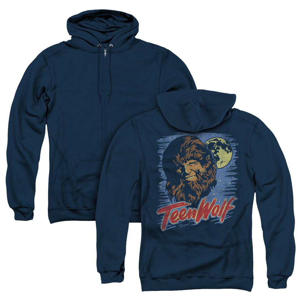 Moon Wolf Teen Wolf Adult Zip Hoodie