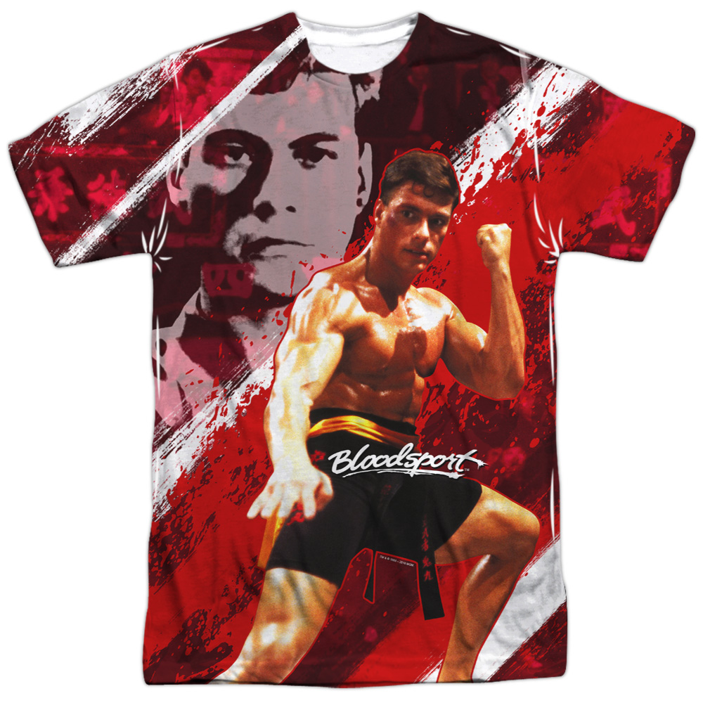 Bloodsport Fight Your Life Frank Dux 2-Sided Sublimation Print Poly Shirt S-3XL