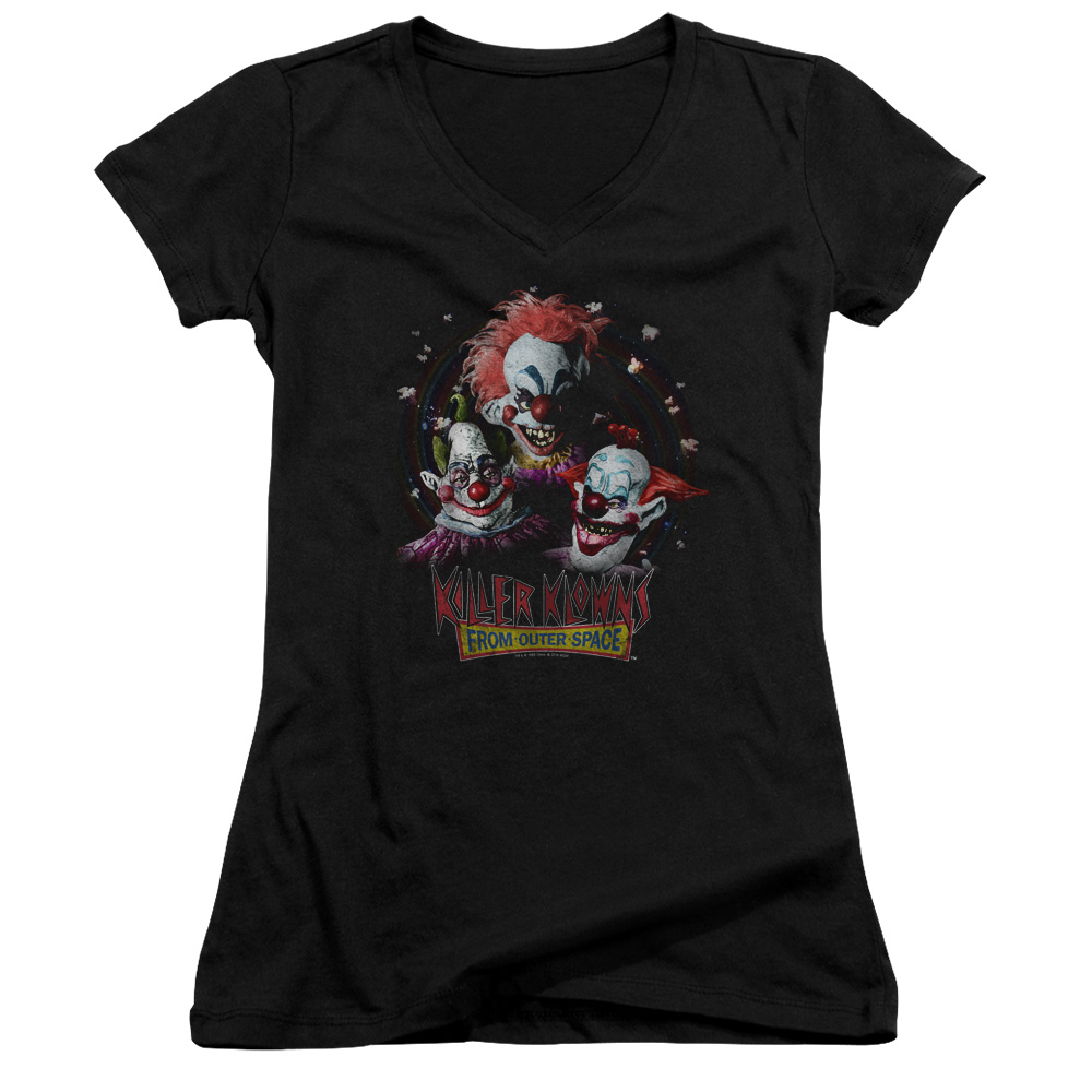 Killer Klowns Killer Klowns From Outer Space Juniors V-Neck T-Shirt