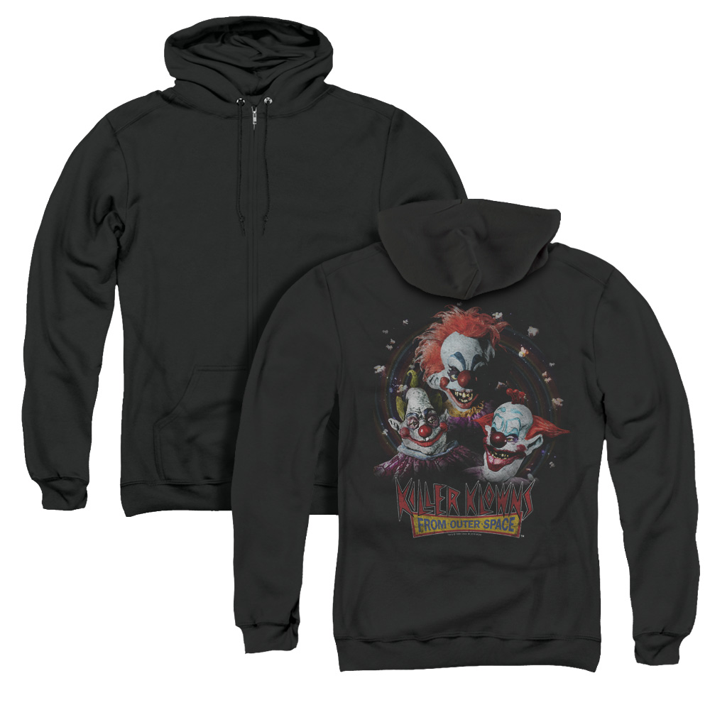 Killer Klowns Killer Klowns From Outer Space Adult Zip Hoodie