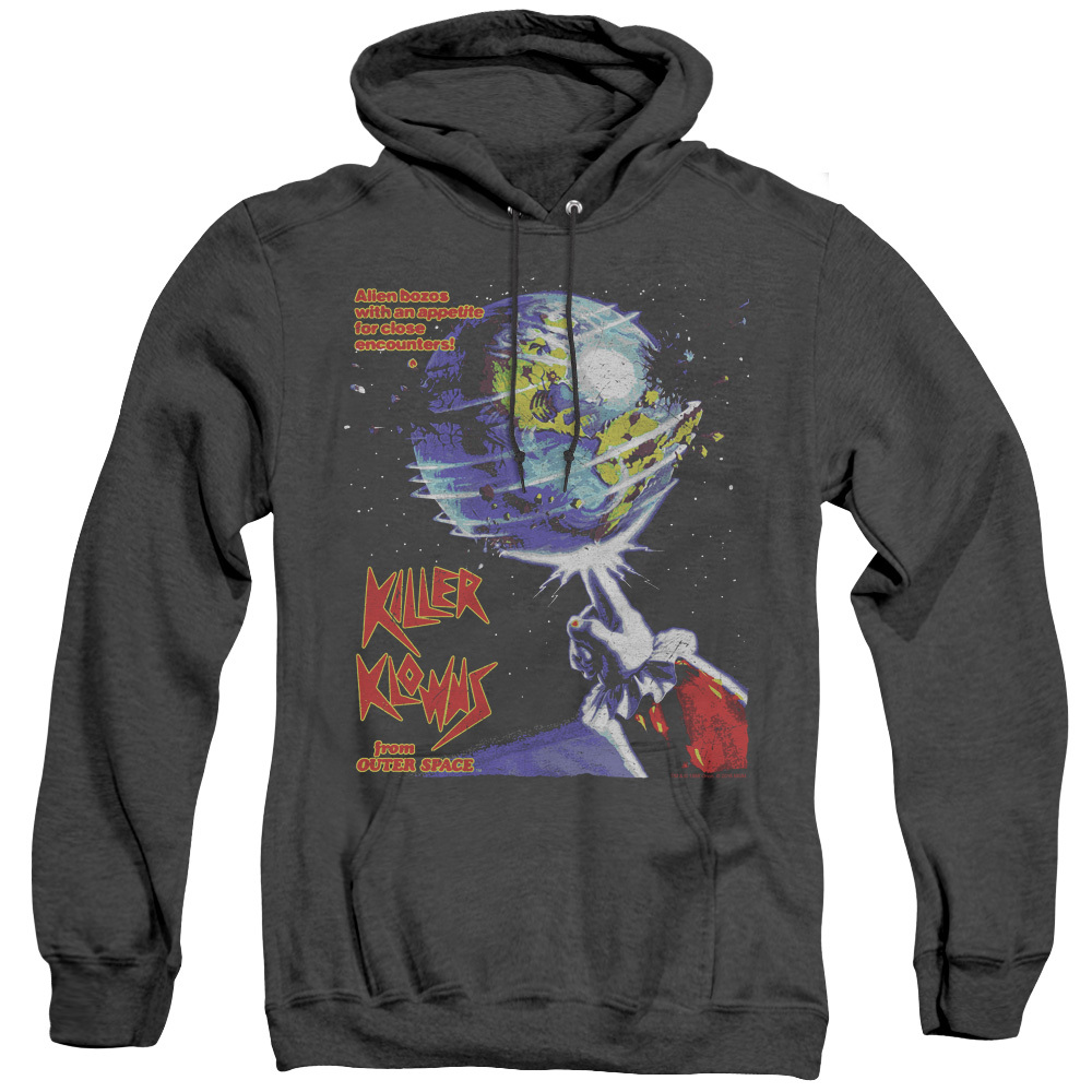Invaders Killer Klowns From Outer Space Adult Heather Hoodie