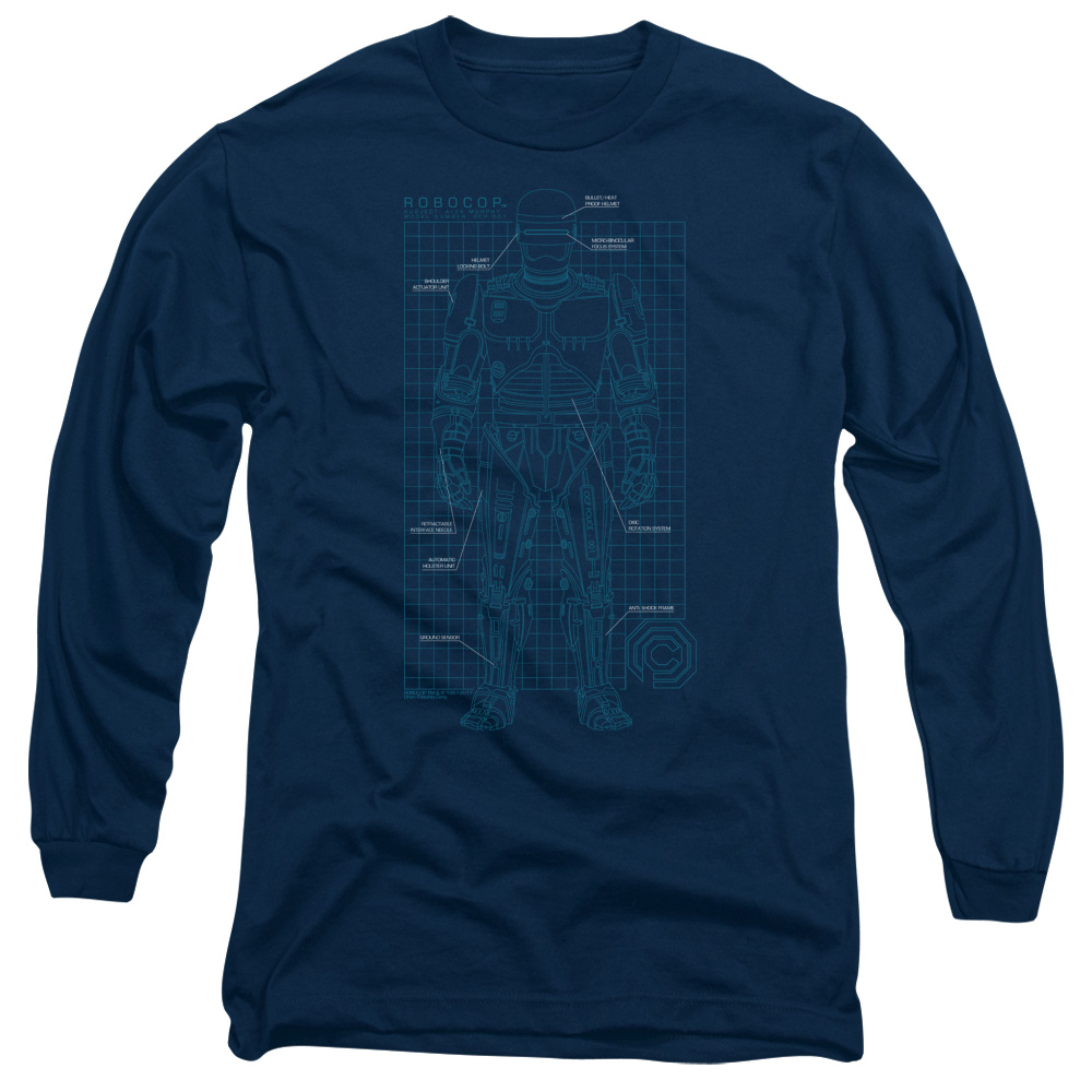 Robocop SCHEMATIC Long Sleeve Shirt