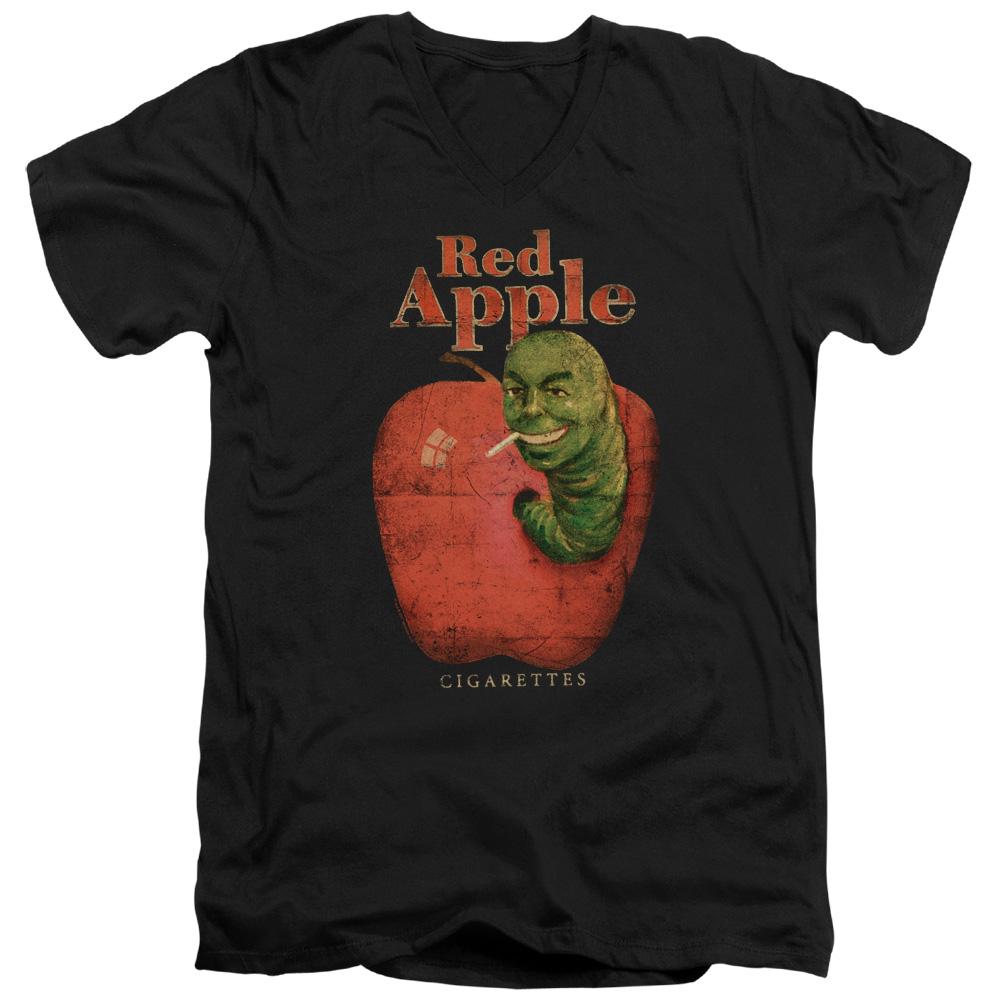 Red Apple Pulp Fiction V-Neck T-Shirt