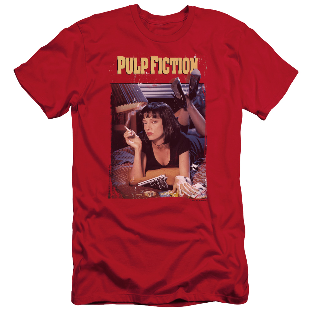 Pulp Fiction Poster1 Slim Fit T-Shirt