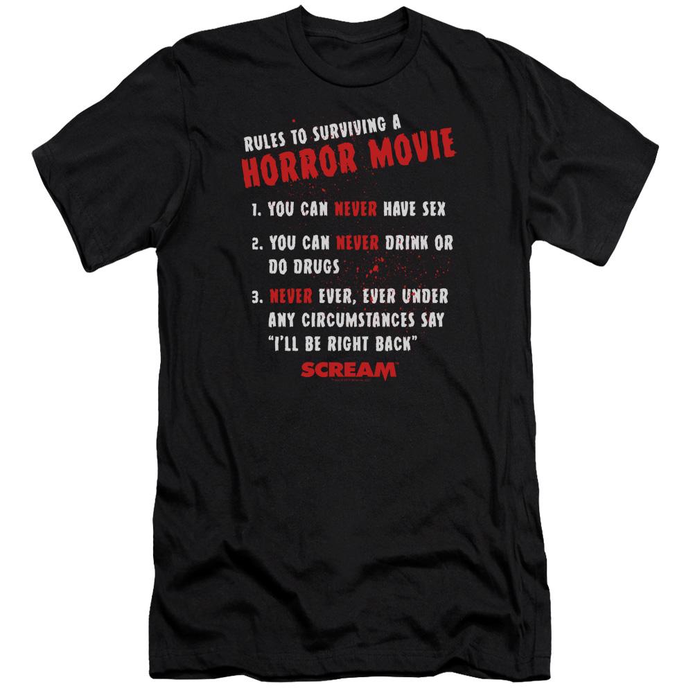 Scream Movie Rules Premium Slim Fit T-Shirt