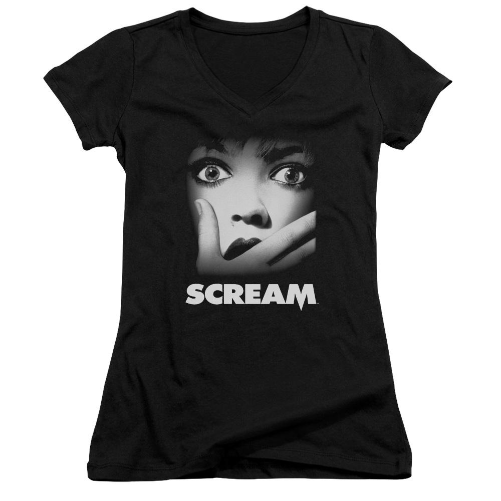 Scream Poster Juniors V-Neck T-Shirt