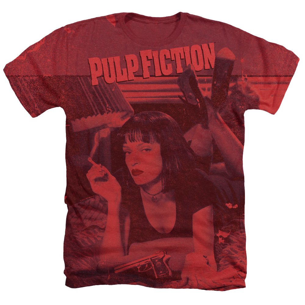 Mia Poster Pulp Fiction Heather T-Shirt