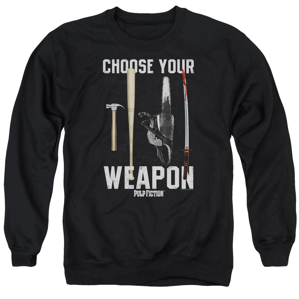 Choose Your Weapon Pulp Fiction Sweater