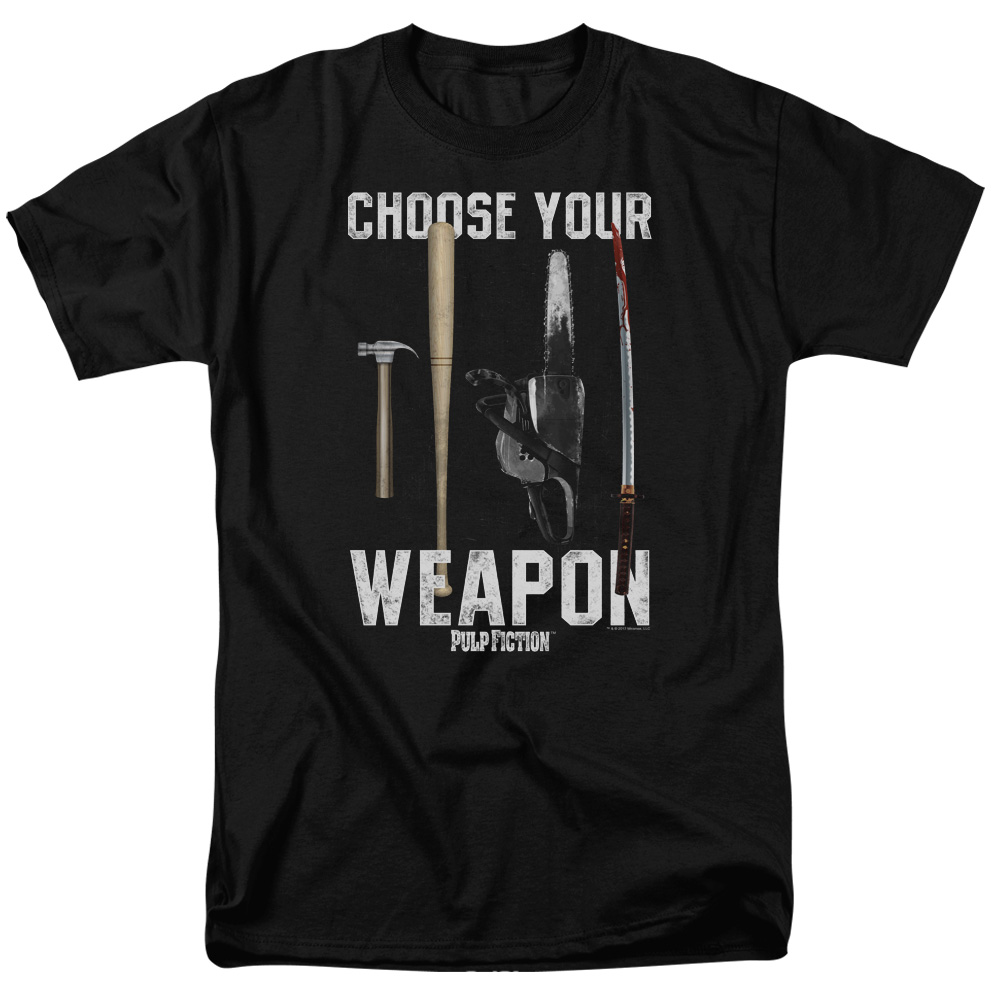 Choose Your Weapon Pulp Fiction T-Shirt