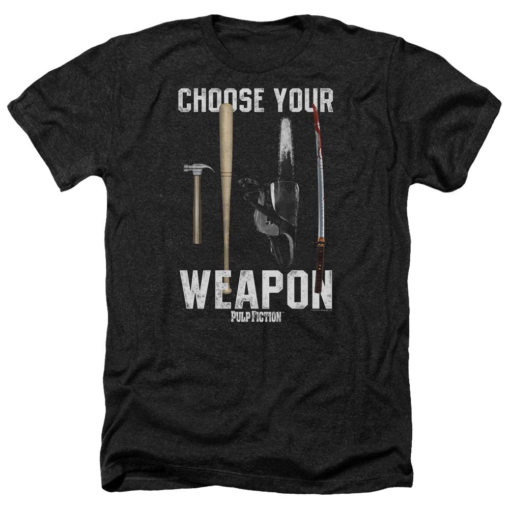 Choose Your Weapon Pulp Fiction Heather T-Shirt