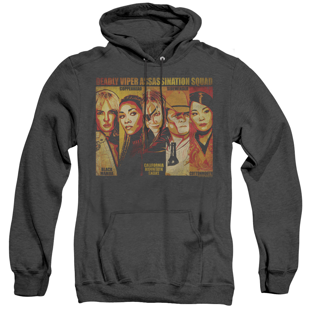 Kill Bill - Deadly Viper Assassination Squad Adult Heather Hoodie