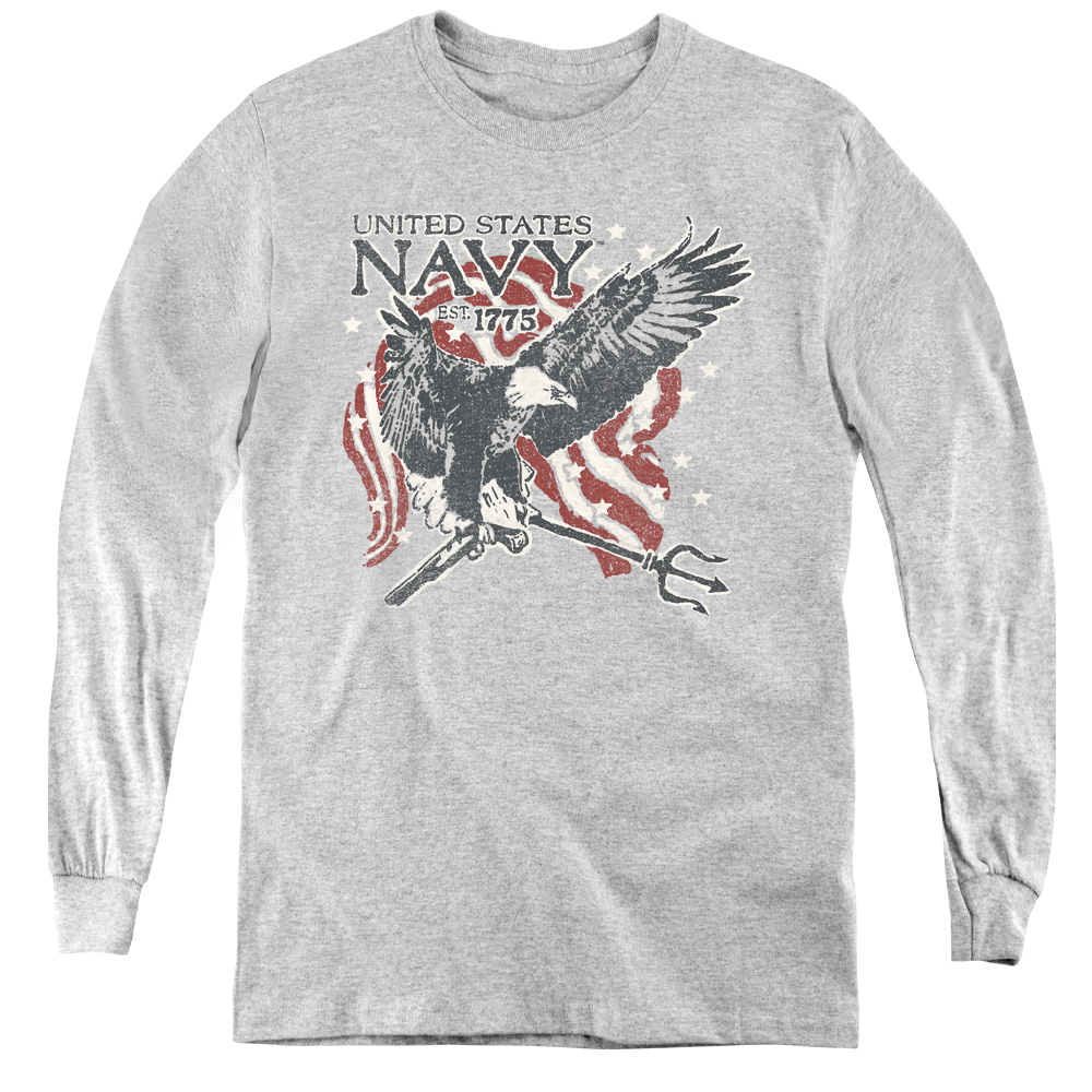 U.S. Navy Eagle Trident Est. 1775 Kids Long Sleeve Shirt